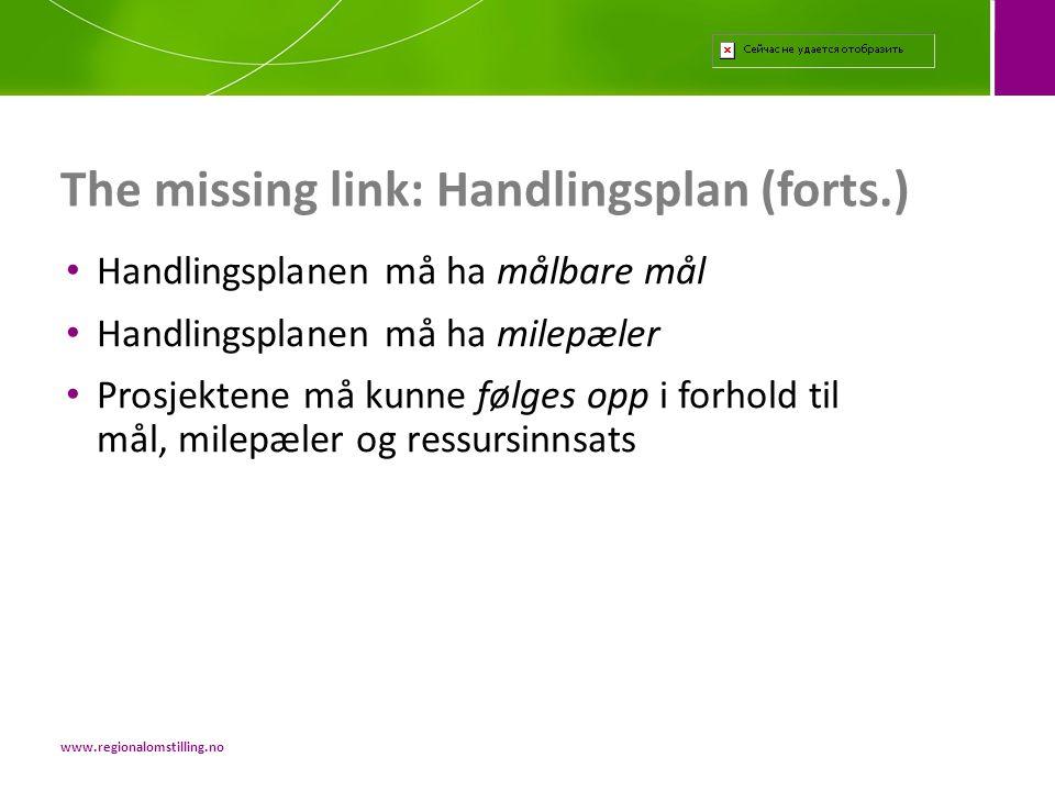 The missing link: Handlingsplan (forts.)