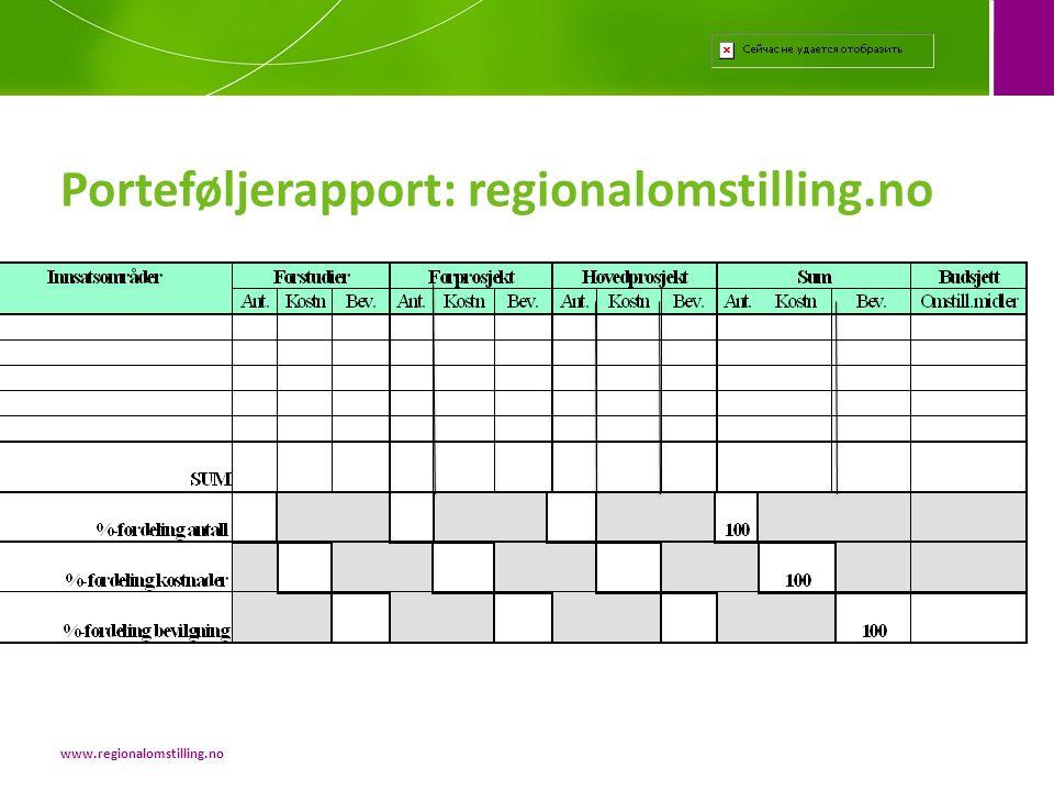 Porteføljerapport: regionalomstilling.no