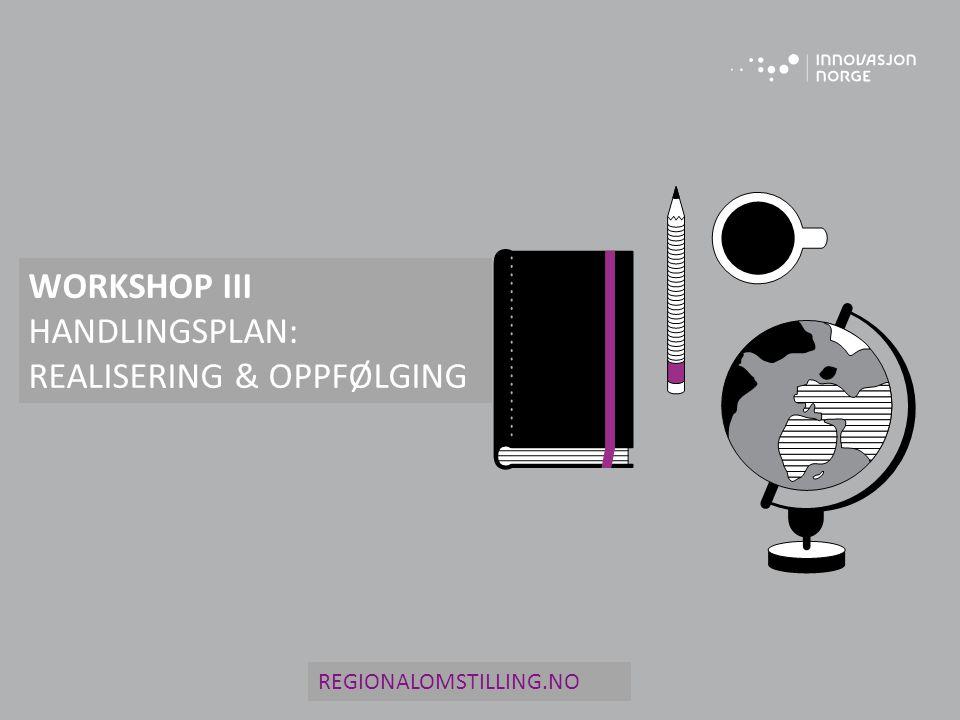 HANDLINGSPLAN: REALISERING & OPPFØLGING