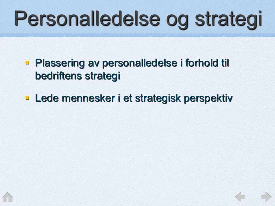 Personalledelse og strategi