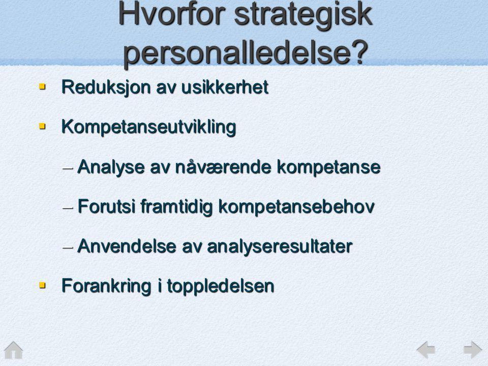 Hvorfor strategisk personalledelse