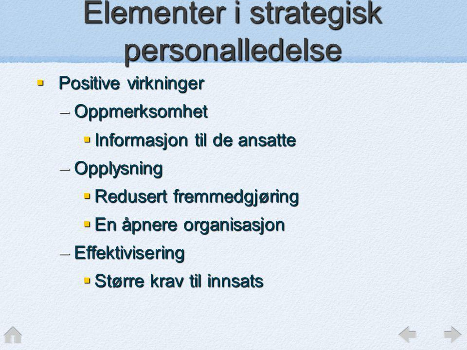 Elementer i strategisk personalledelse