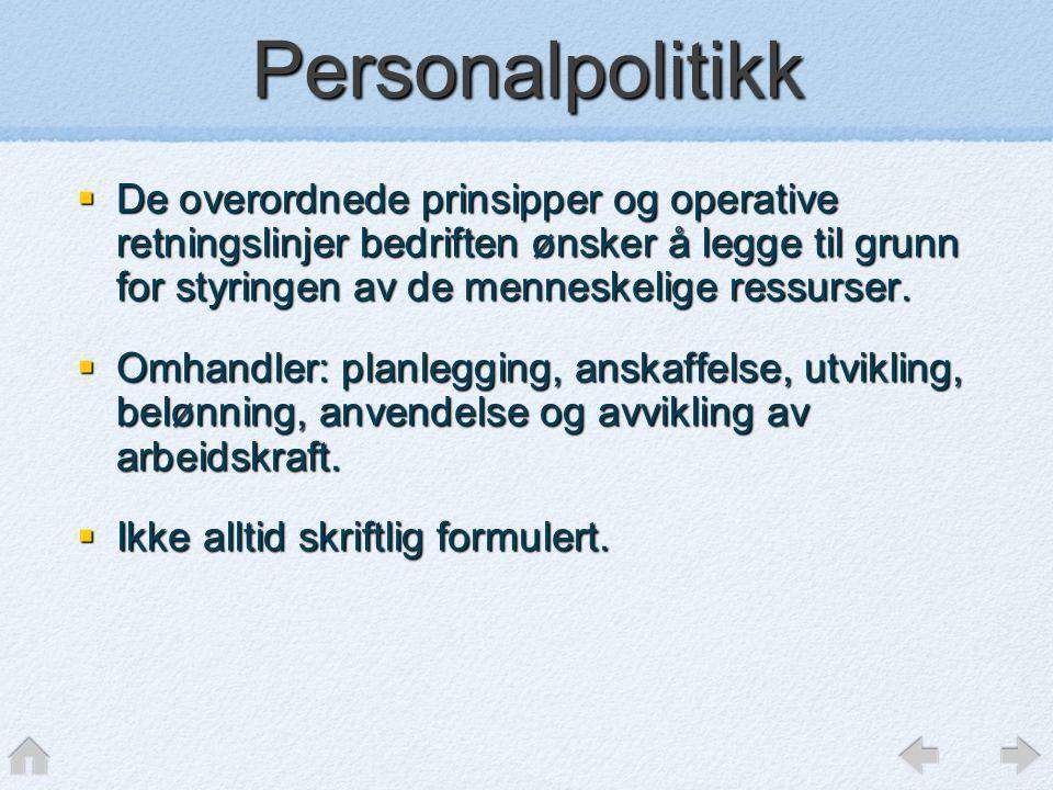 Personalpolitikk