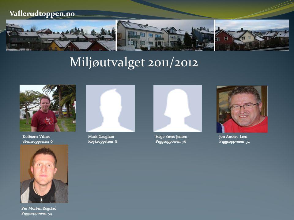 Miljøutvalget 2011/2012 Vallerudtoppen.no Kolbjørn Vilnes