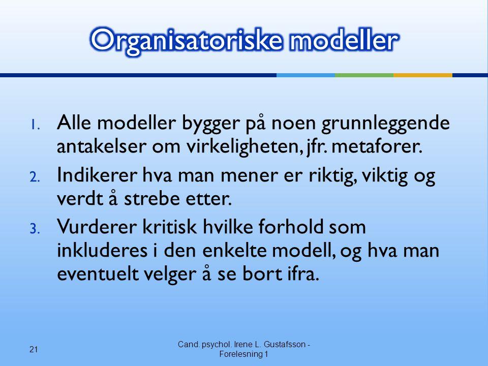 Organisatoriske modeller