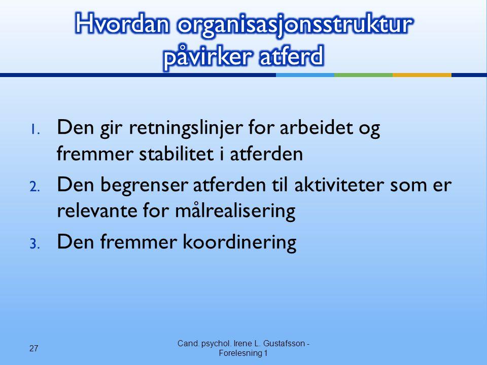 Hvordan organisasjonsstruktur påvirker atferd