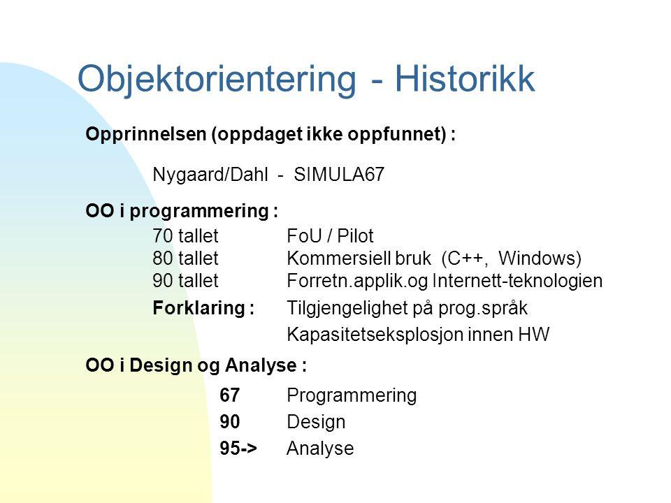 Objektorientering - Historikk