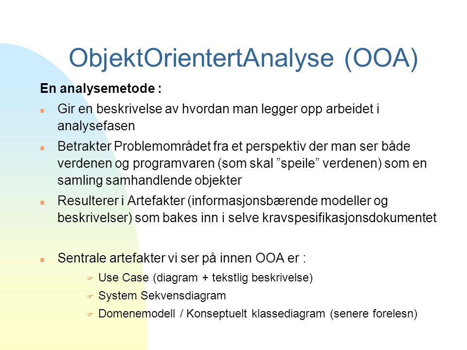 ObjektOrientertAnalyse (OOA)