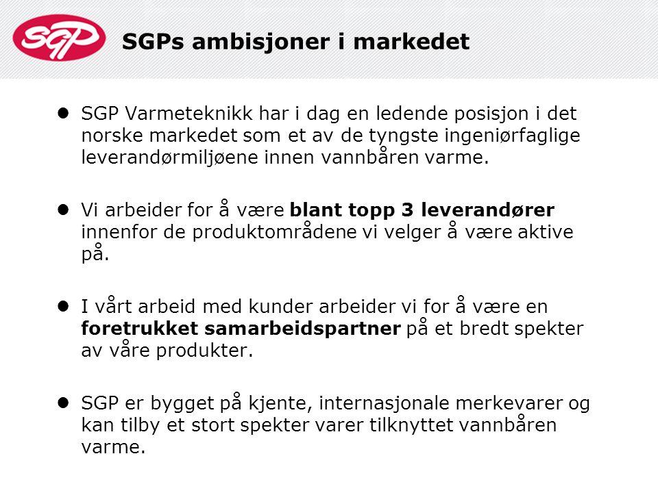 SGPs ambisjoner i markedet