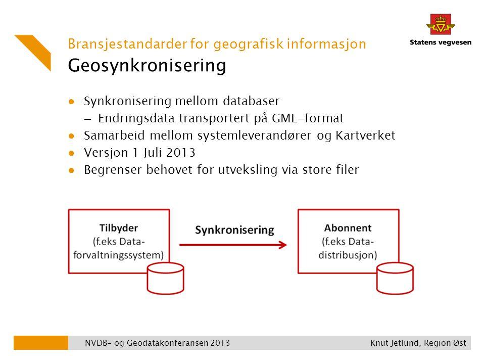 Geosynkronisering Bransjestandarder for geografisk informasjon