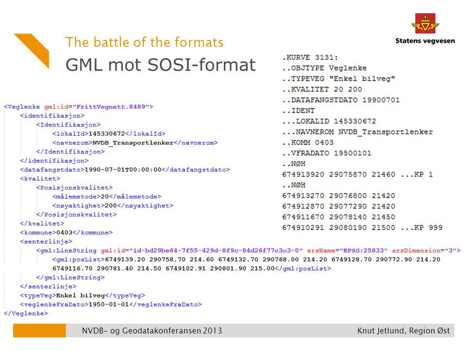 GML mot SOSI-format The battle of the formats