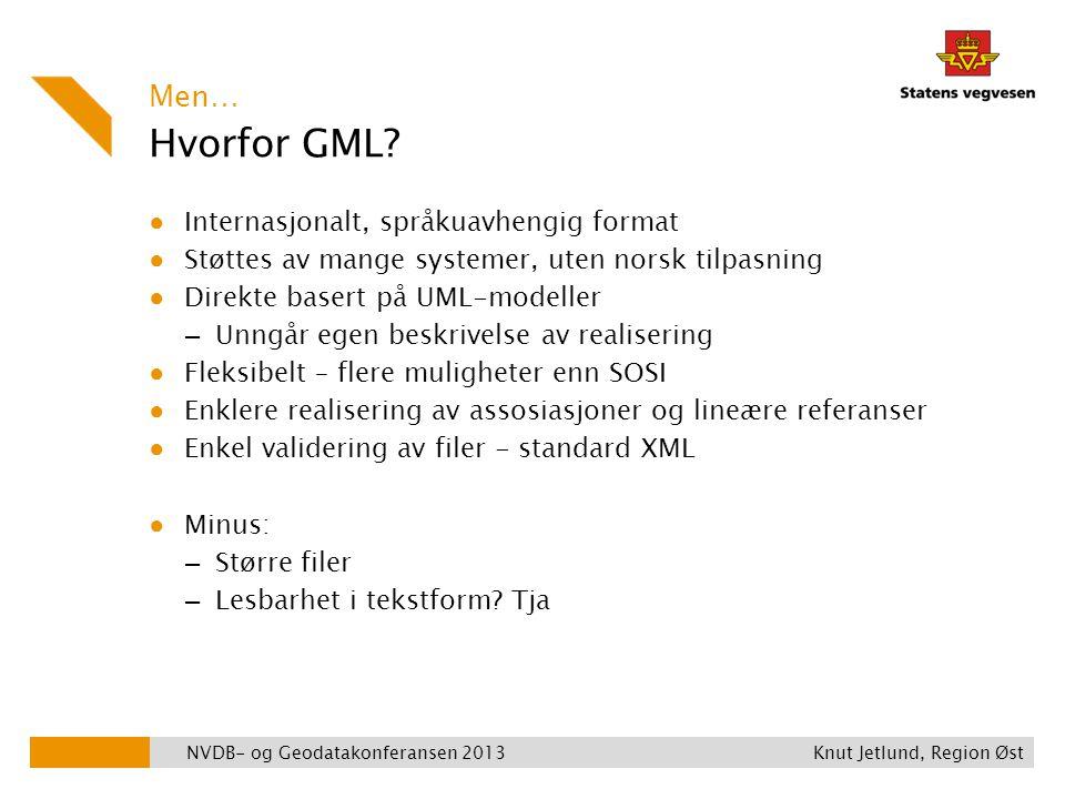 Hvorfor GML Men… Internasjonalt, språkuavhengig format