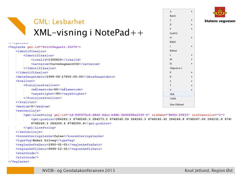 XML-visning i NotePad++
