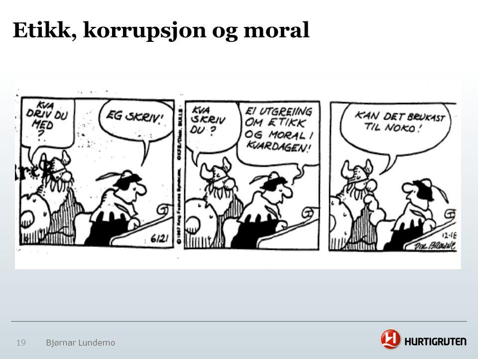 Etikk, korrupsjon og moral
