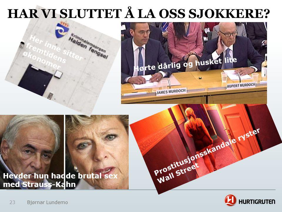 HAR VI SLUTTET Å LA OSS SJOKKERE