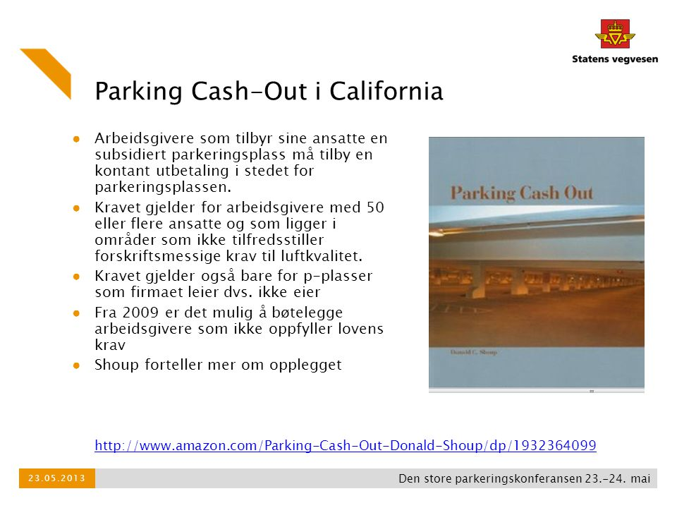 Parking Cash-Out i California