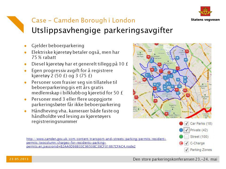 Utslippsavhengige parkeringsavgifter