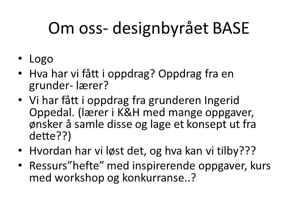 Om oss- designbyrået BASE