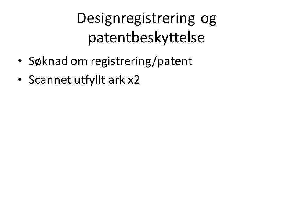 Designregistrering og patentbeskyttelse