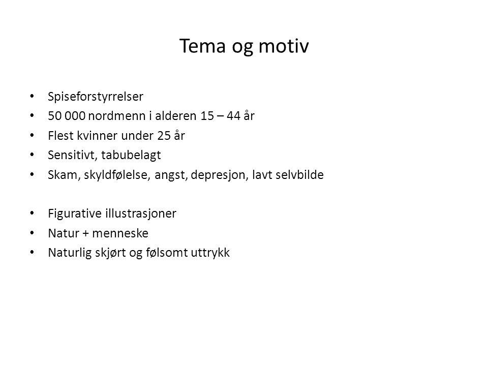 Tema og motiv Spiseforstyrrelser 50 000 nordmenn i alderen 15 – 44 år