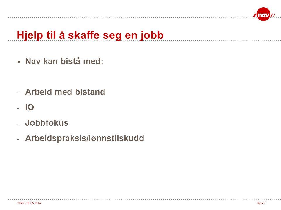 Hjelp til å skaffe seg en jobb