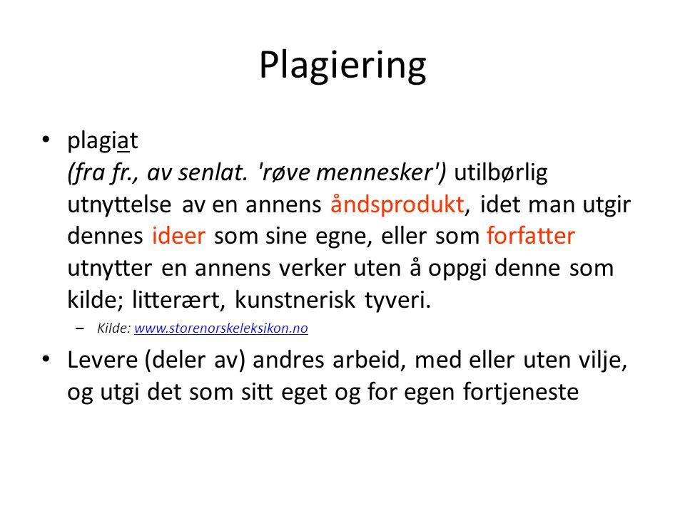 Plagiering