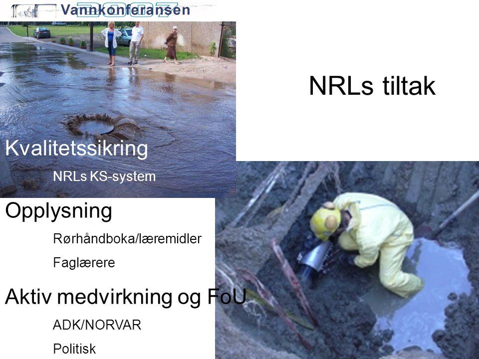 NRLs tiltak Kvalitetssikring Opplysning Aktiv medvirkning og FoU