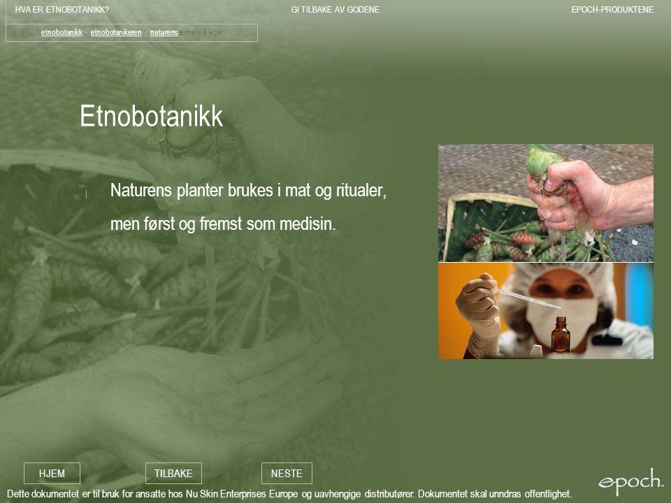 etnobotanikk - etnobotanikeren - naturens evne til å lege