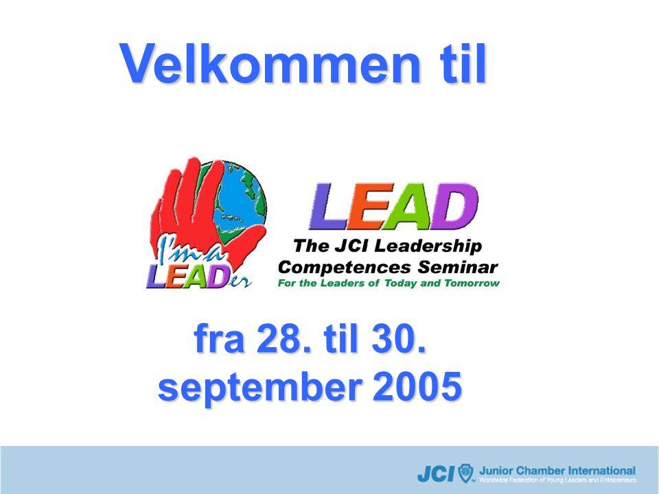 Velkommen til fra 28. til 30. september 2005
