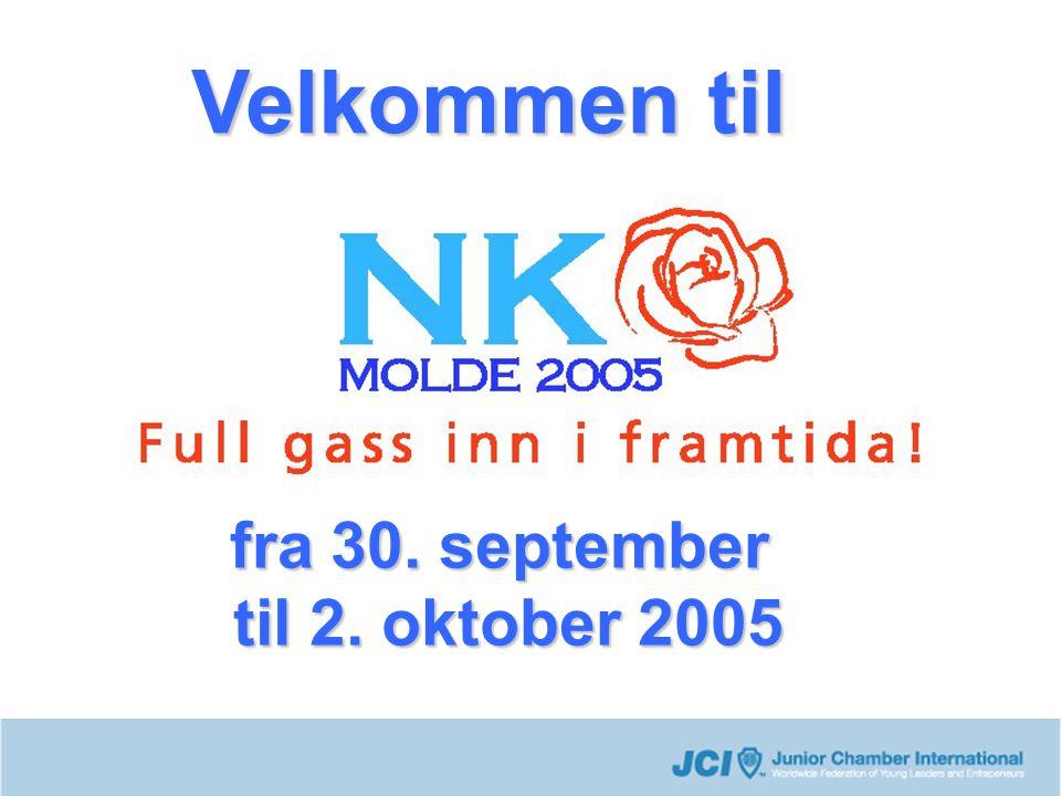 Velkommen til fra 30. september til 2. oktober 2005