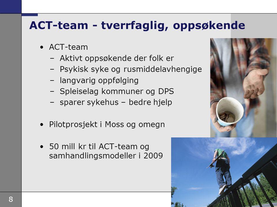 ACT-team - tverrfaglig, oppsøkende