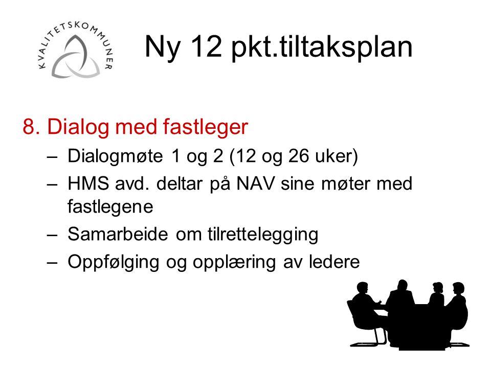 Ny 12 pkt.tiltaksplan 8. Dialog med fastleger