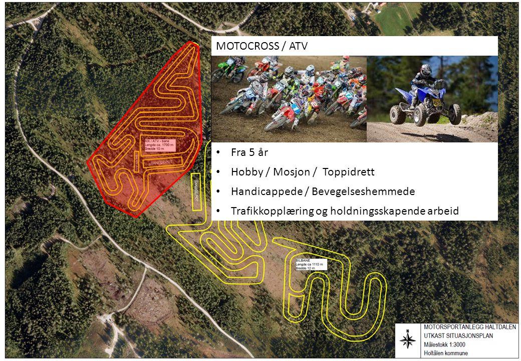 MOTOCROSS / ATV Fra 5 år. Hobby / Mosjon / Toppidrett.