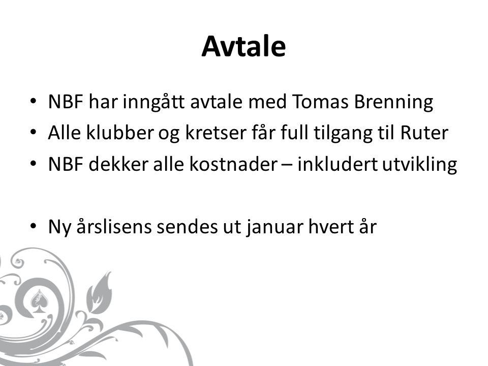 Avtale NBF har inngått avtale med Tomas Brenning