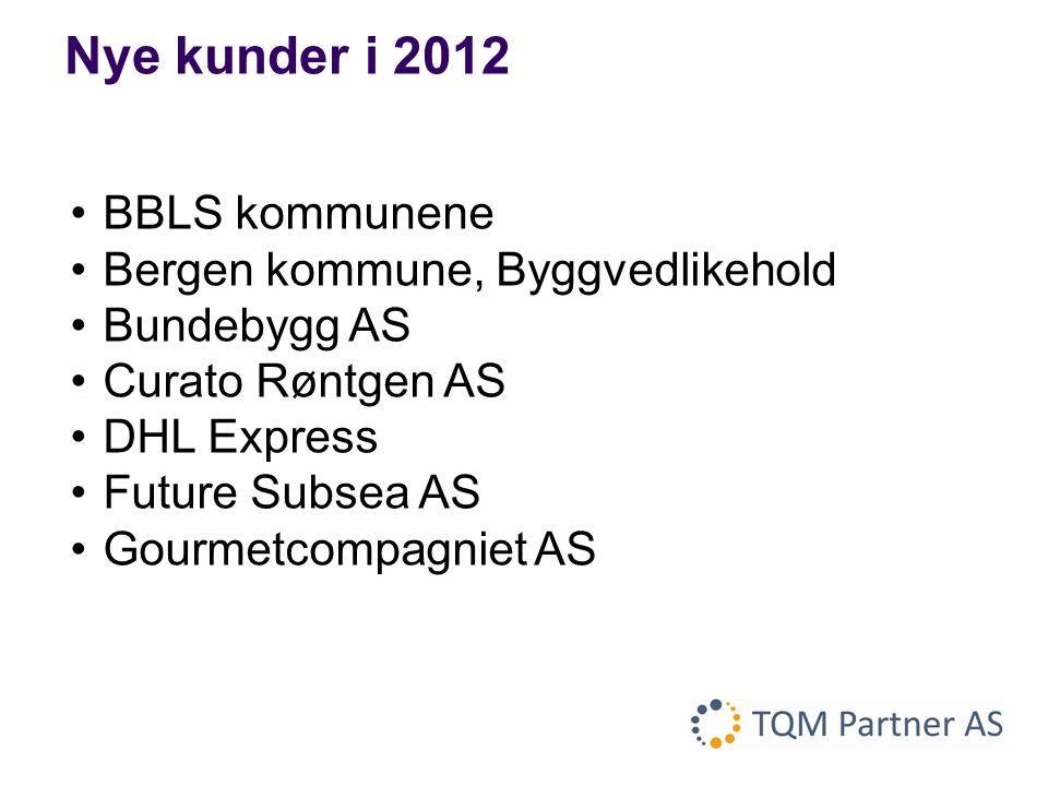 Nye kunder i 2012 BBLS kommunene Bergen kommune, Byggvedlikehold