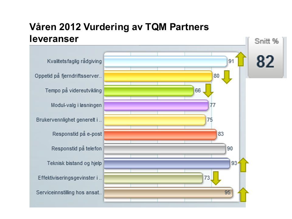 Våren 2012 Vurdering av TQM Partners leveranser
