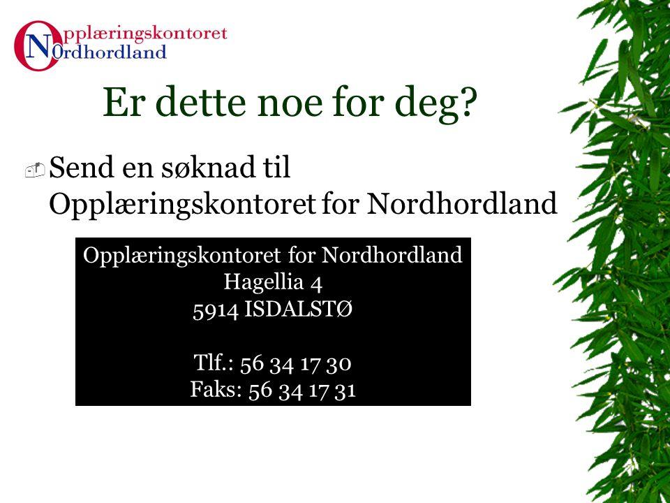 Opplæringskontoret for Nordhordland