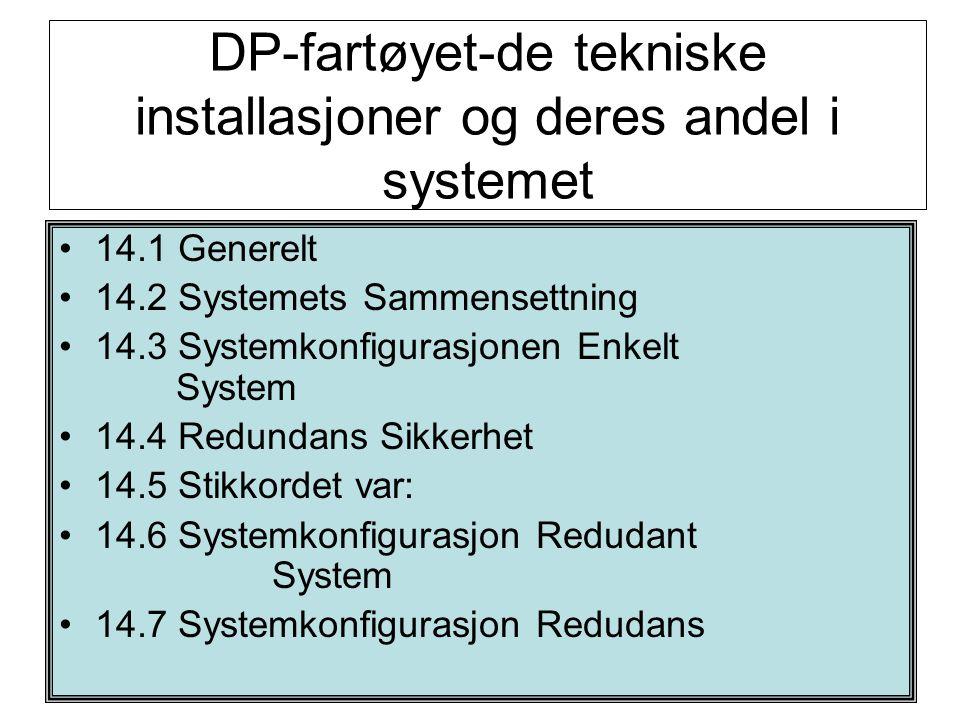 DP-fartøyet-de tekniske installasjoner og deres andel i systemet