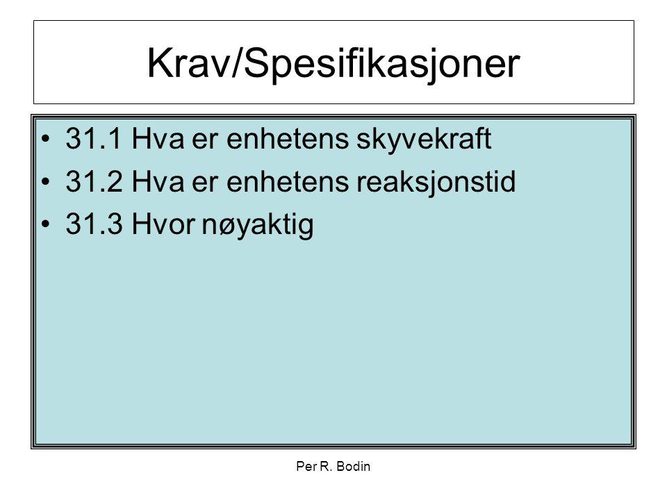 Krav/Spesifikasjoner