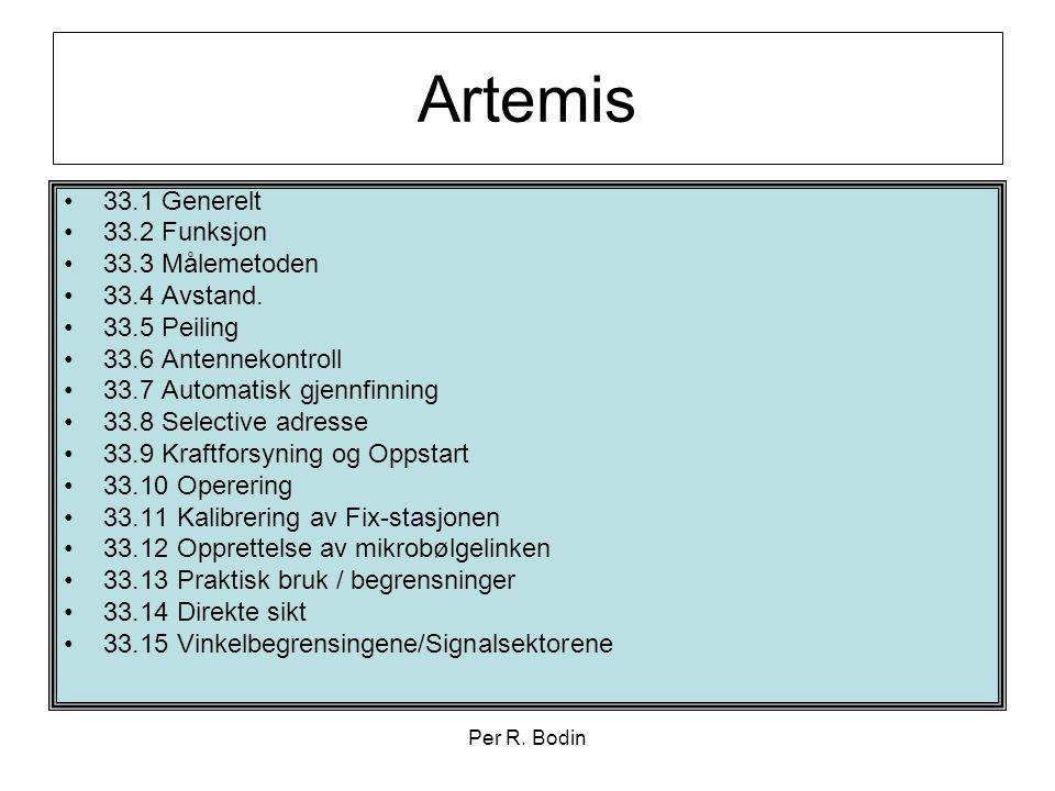 Artemis 33.1 Generelt 33.2 Funksjon 33.3 Målemetoden 33.4 Avstand.