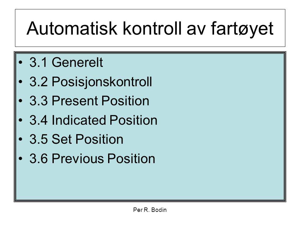 Automatisk kontroll av fartøyet