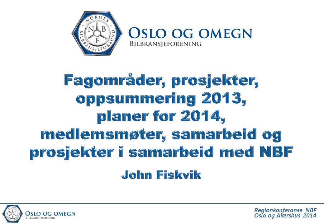 Fagområder, prosjekter, oppsummering 2013, planer for 2014, medlemsmøter, samarbeid og prosjekter i samarbeid med NBF