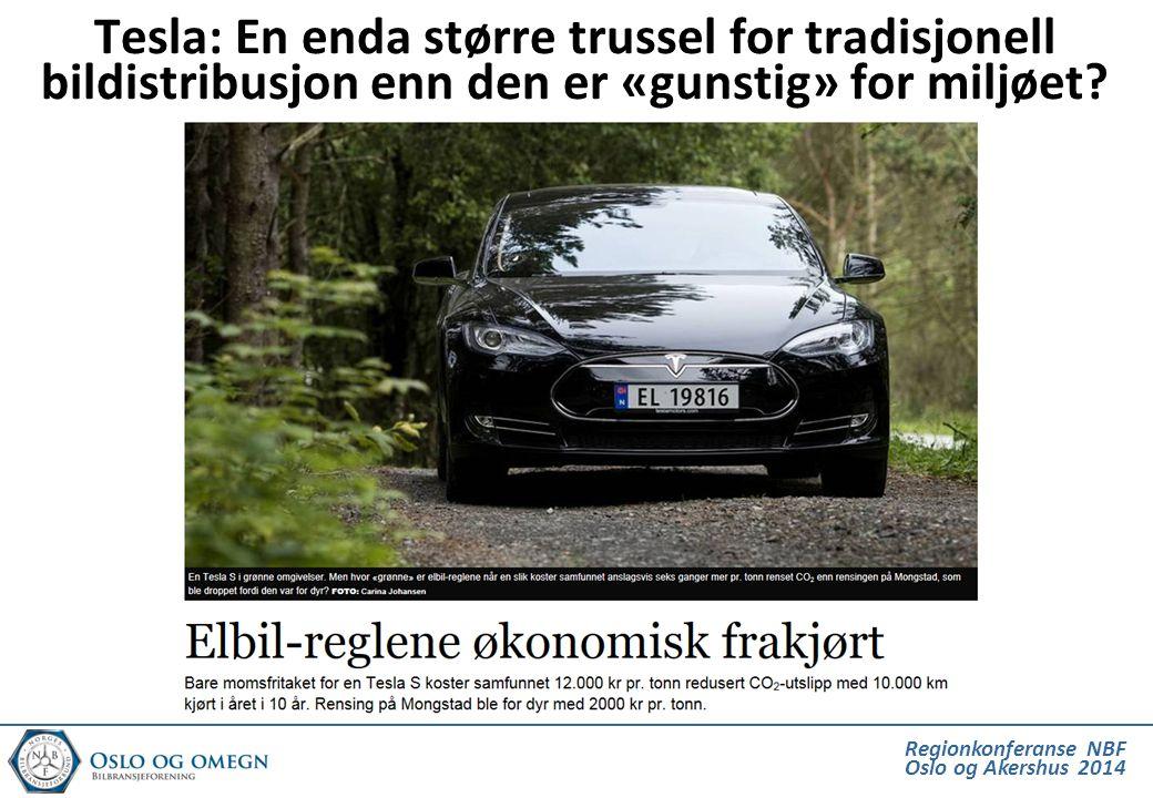 Tesla: En enda større trussel for tradisjonell bildistribusjon enn den er «gunstig» for miljøet