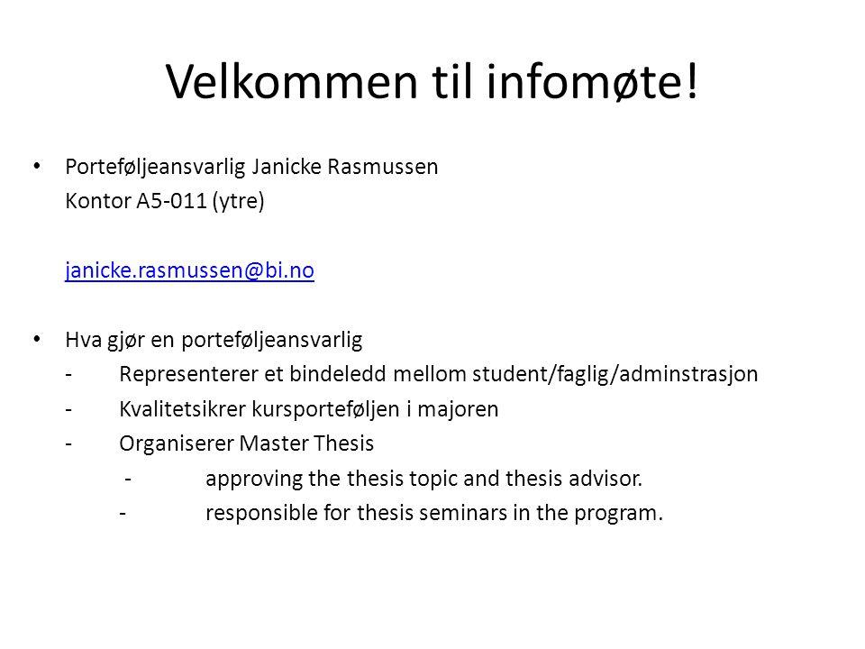 Velkommen til infomøte!