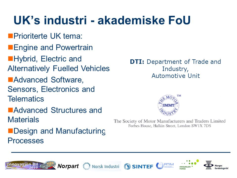 UK's industri - akademiske FoU