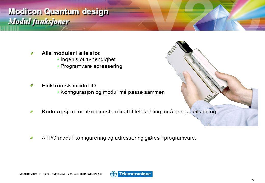 Modicon Quantum design Modul funksjoner