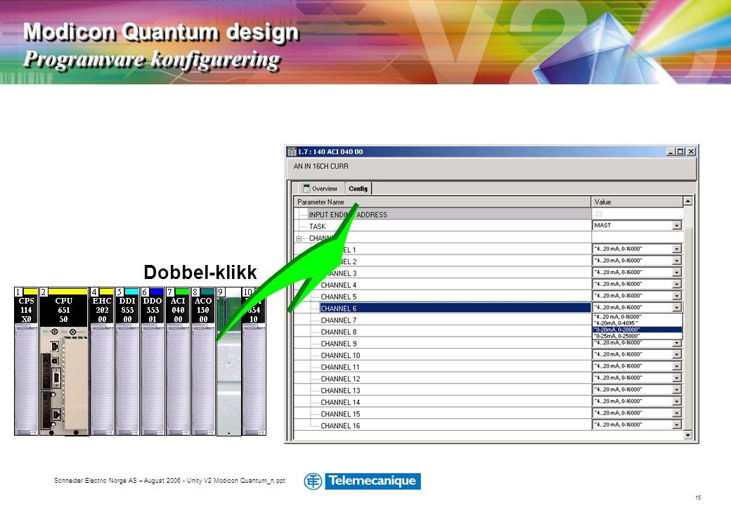 Modicon Quantum design Programvare konfigurering
