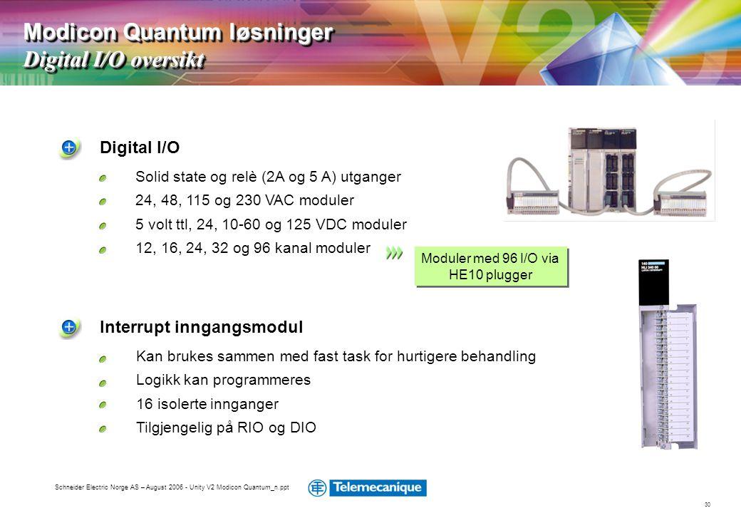 Moduler med 96 I/O via HE10 plugger