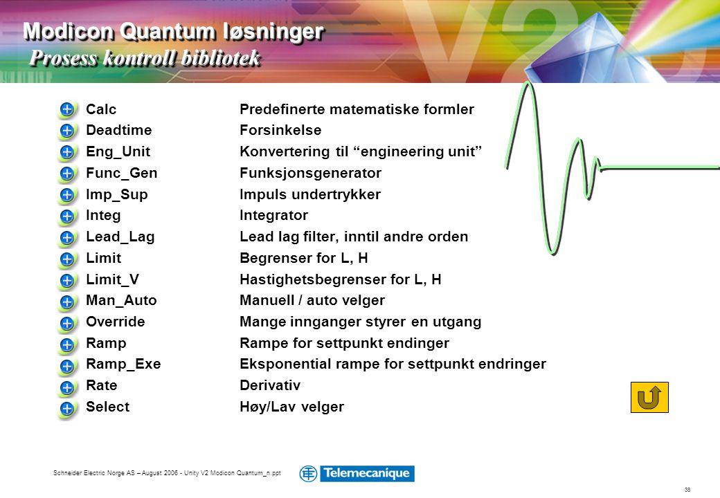 Modicon Quantum løsninger Prosess kontroll bibliotek