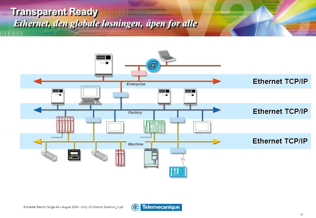 Transparent Ready Ethernet, den globale løsningen, åpen for alle